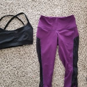Popflex bra and capri